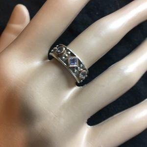 Jewelry - Etruscan style sterling silver ring tanzanite SZ 7